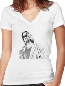 The Big Lebowski -The Dude Women's Fitted V-Neck T-Shirt