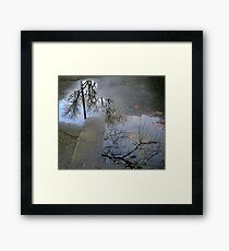 fractured reality Framed Print