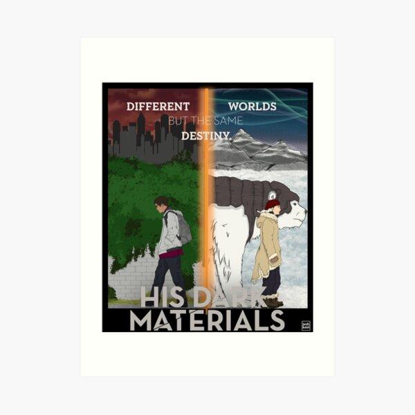 His Dark Materials Lyra & Will Art Print