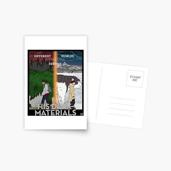 His Dark Materials Lyra & Will Postcard