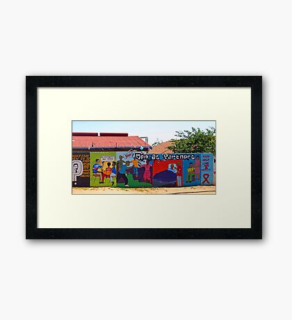 Colorful commercial -Soweto style! Framed Print