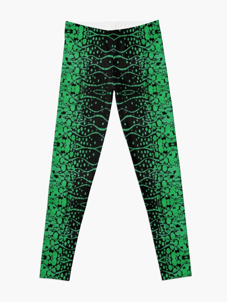 Alternate view of Mesh, Pattern, design, tracery, weave, structure, framework Leggings
