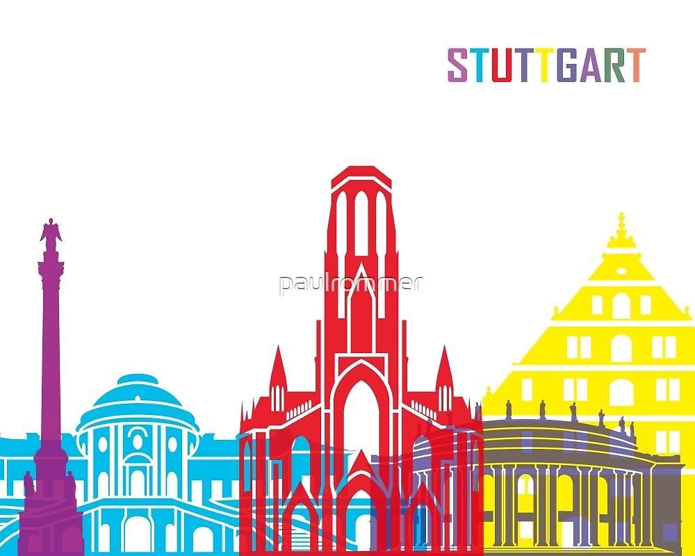 Stuttgart skyline pop by paulrommer