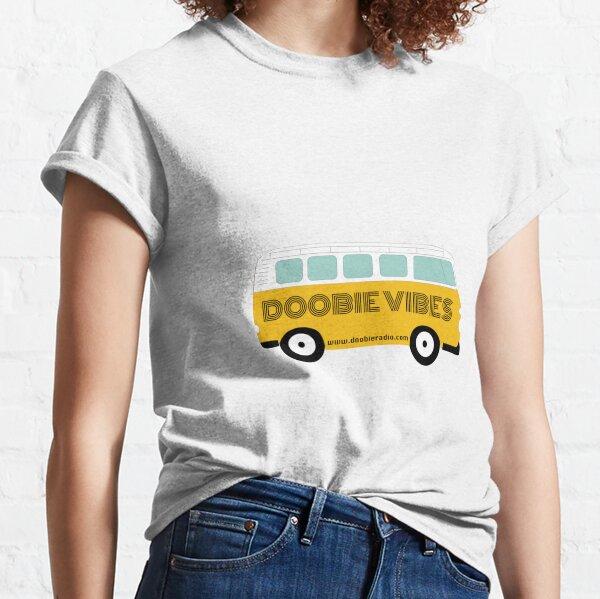 Doobie Vibes Yellow Van 91.1 WDUB Sticker Classic T-Shirt