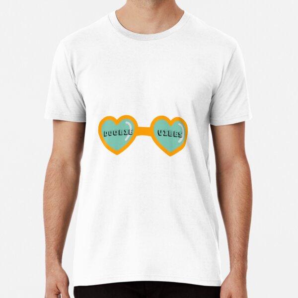 Doobie Vibes Sunglasses Sticker 91.1 WDUB Premium T-Shirt