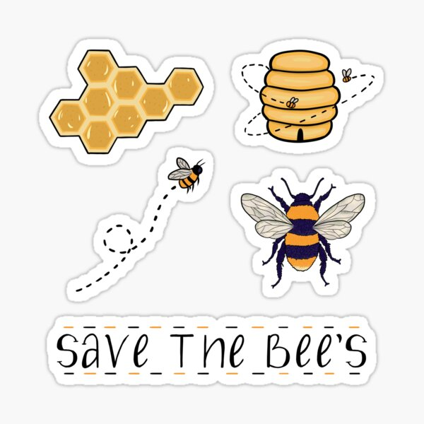 save the bee's Sticker