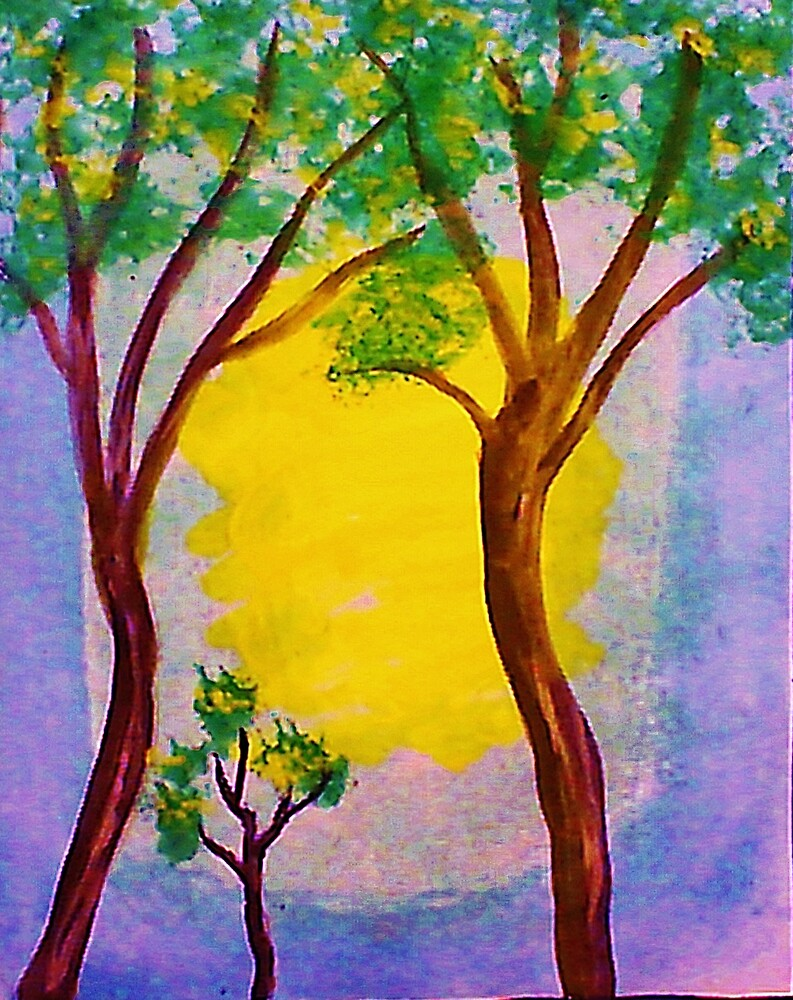 Proud to present,, watercolor by Anna  Lewis, blind artist