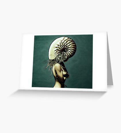 The Nautilus. Greeting Card