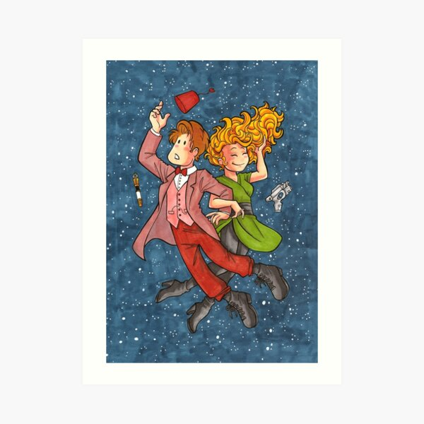Doctor and River in Space Art Print