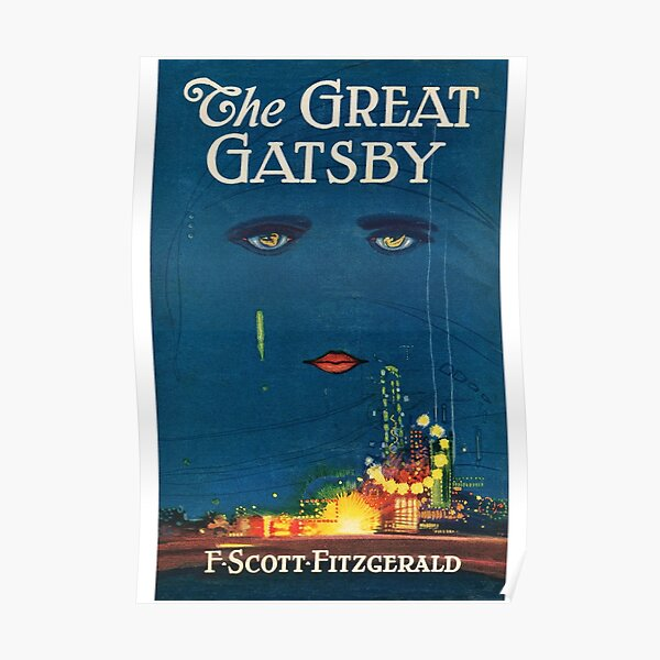 The Great Gatsby | Vintage Book Cover Poster