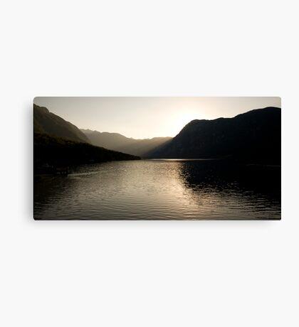Alpine rays of light Canvas Print
