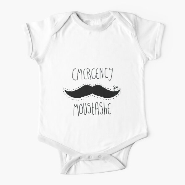 Emergency moustashe Short Sleeve Baby One-Piece