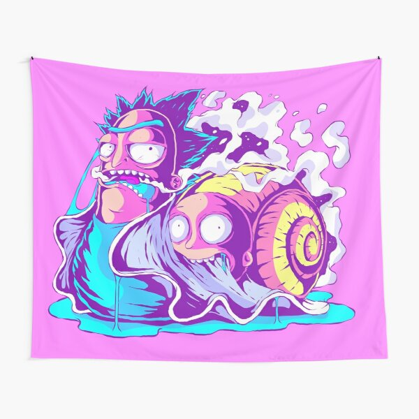 Rick and Morty Multiverse Snail Tapestry