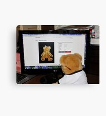 Cyber Teddy Canvas Print