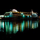 Spirit of Tasmania at night by Cameron Lundstedt