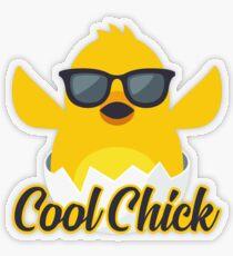 Cool Chick Emoji Meme Transparent Sticker