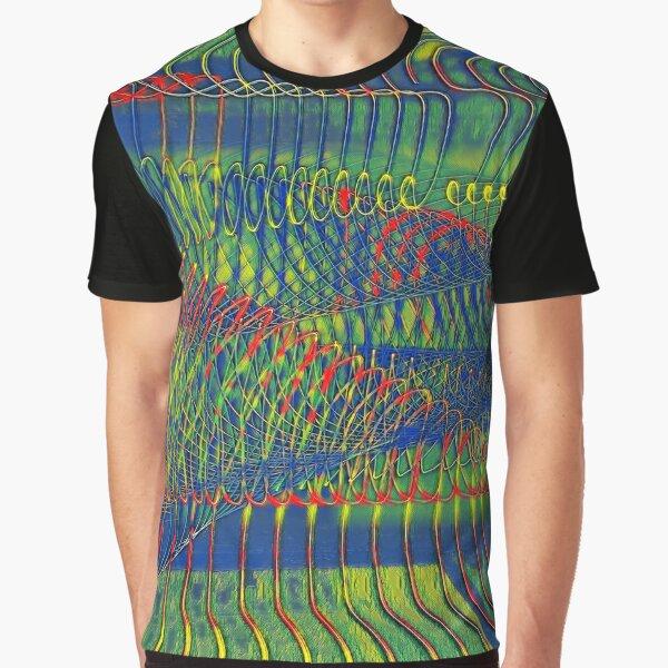 SPIRALEN ABSTRAKT PARANOIA Grafik T-Shirt