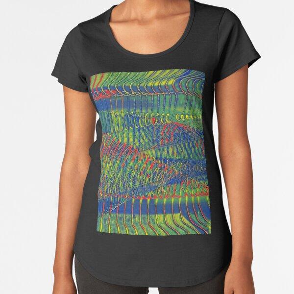 SPIRALEN ABSTRAKT PARANOIA Premium Rundhals-Shirt