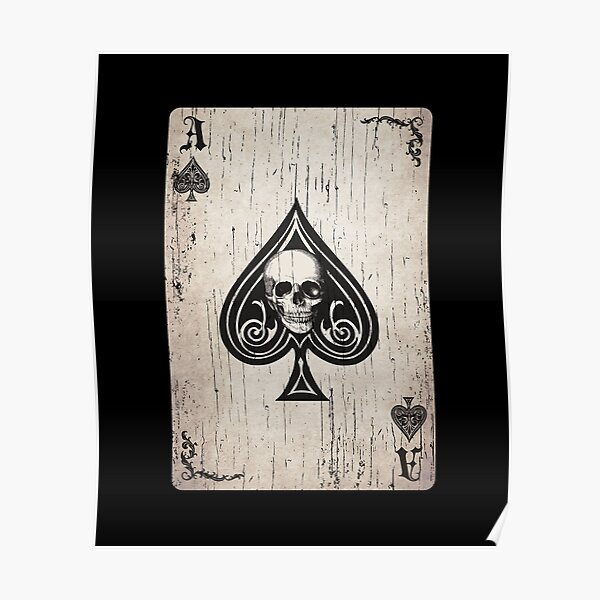 Ace of Spades Death Card Poster