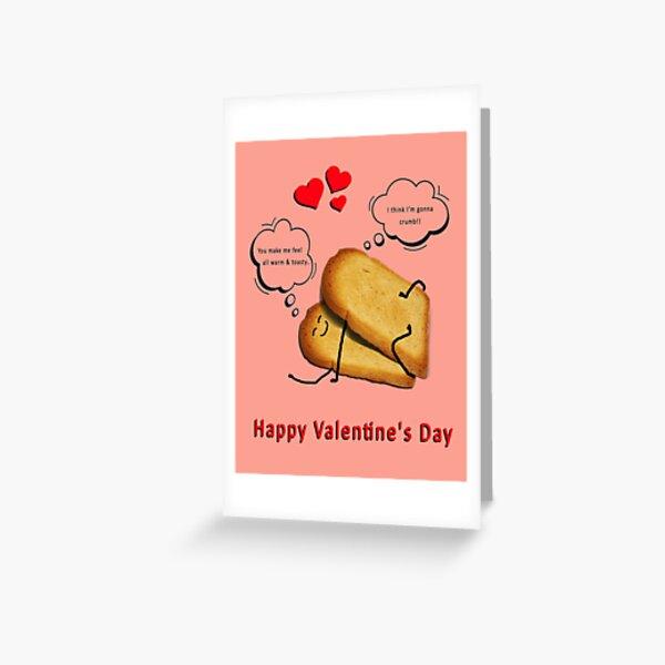 Happy Valentines Toasting - Think I'm gonna crumb! Greeting Card