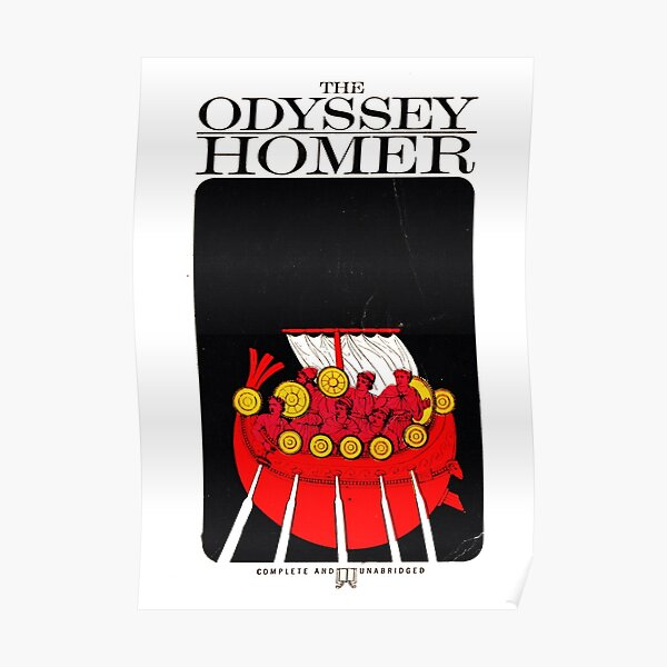 HIGH RESOLUTION The Odyssey Homer Vintage Book Cover Poster