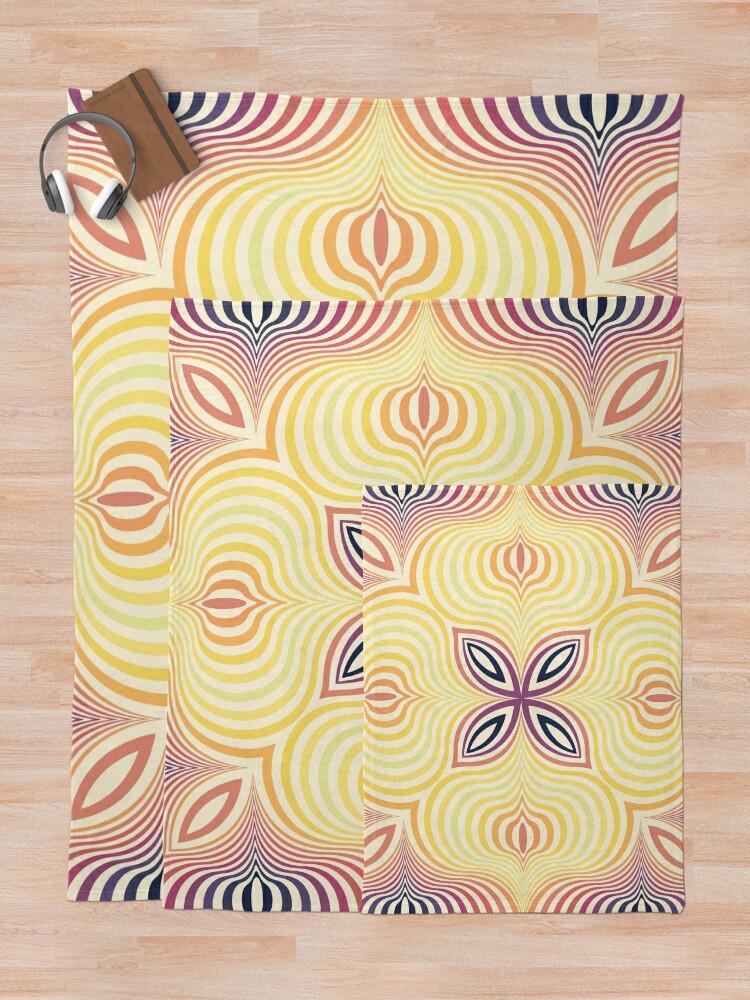 Alternate view of Optical illusion soft circles Throw Blanket