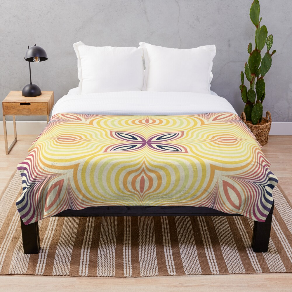 Optical illusion soft circles Throw Blanket