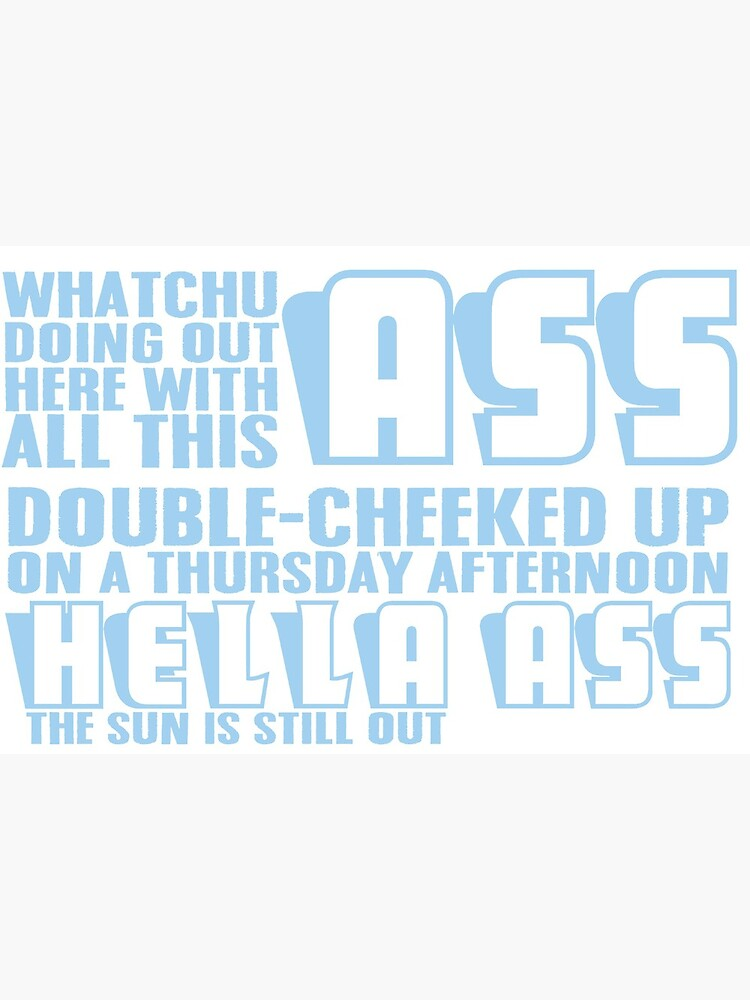 Tik Tok Double Cheeked Up Blue Art Board Print By Britlav17 Redbubble Find the newest double cheeked up meme. redbubble