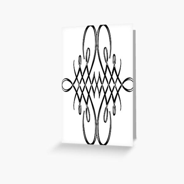 Pattern, design, tracery, weave, structure, framework, frame Greeting Card