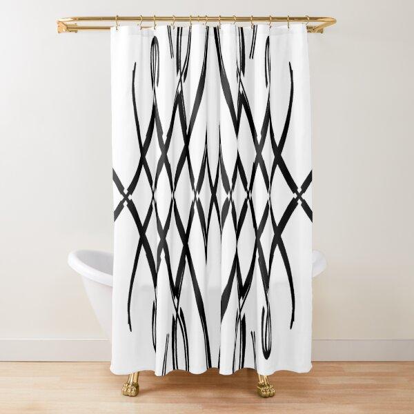 Pattern, design, tracery, weave, structure, framework, frame Shower Curtain