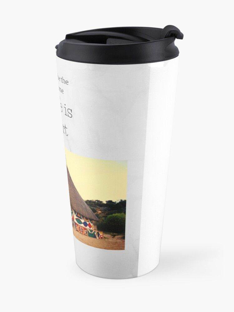 Alternate view of The wife is the heart Travel Mug