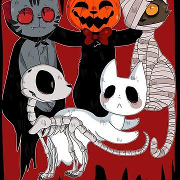Spooky Cats by Ocene