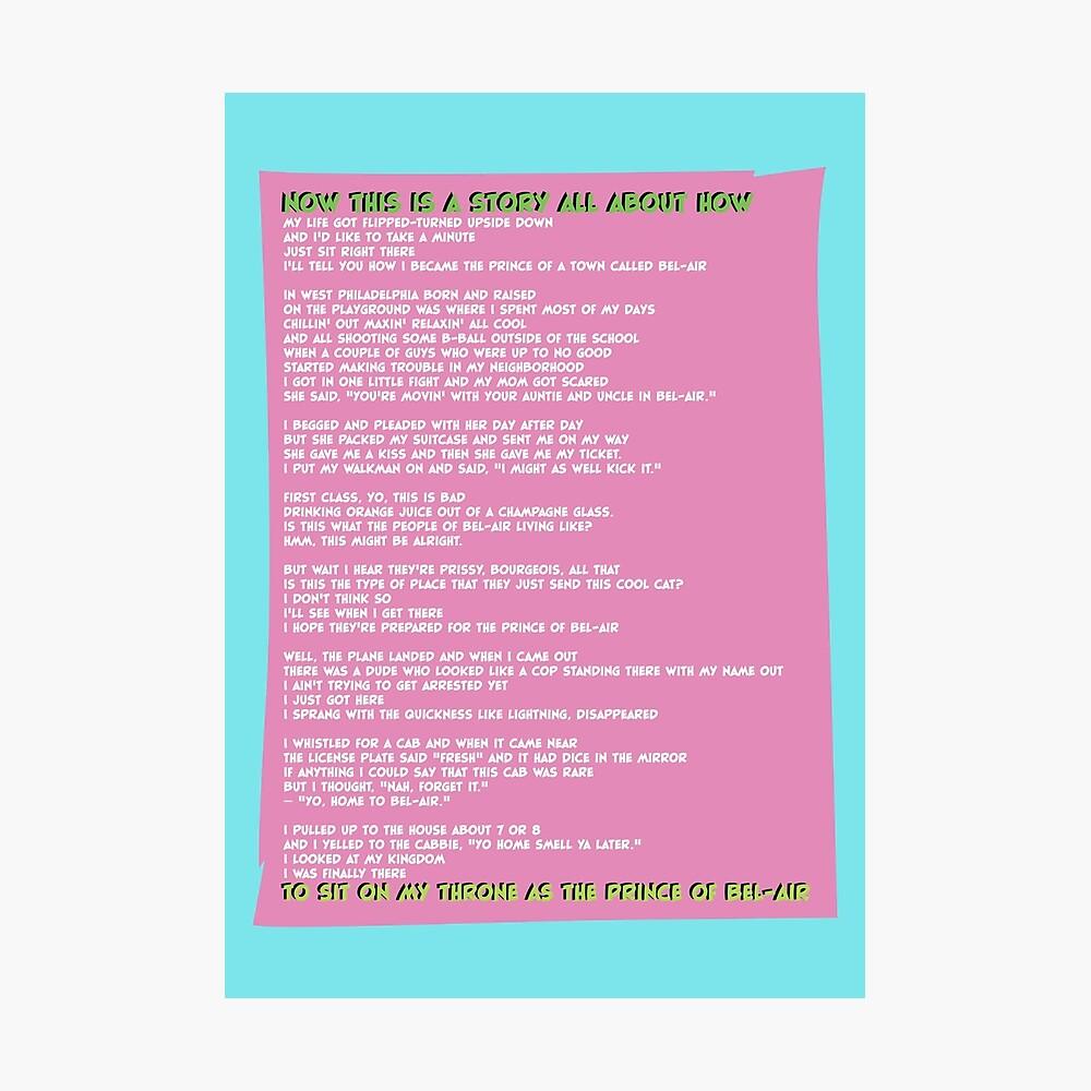 Fresh Prince of Bel Air Übersetzung und Songtext, Lyrics ...