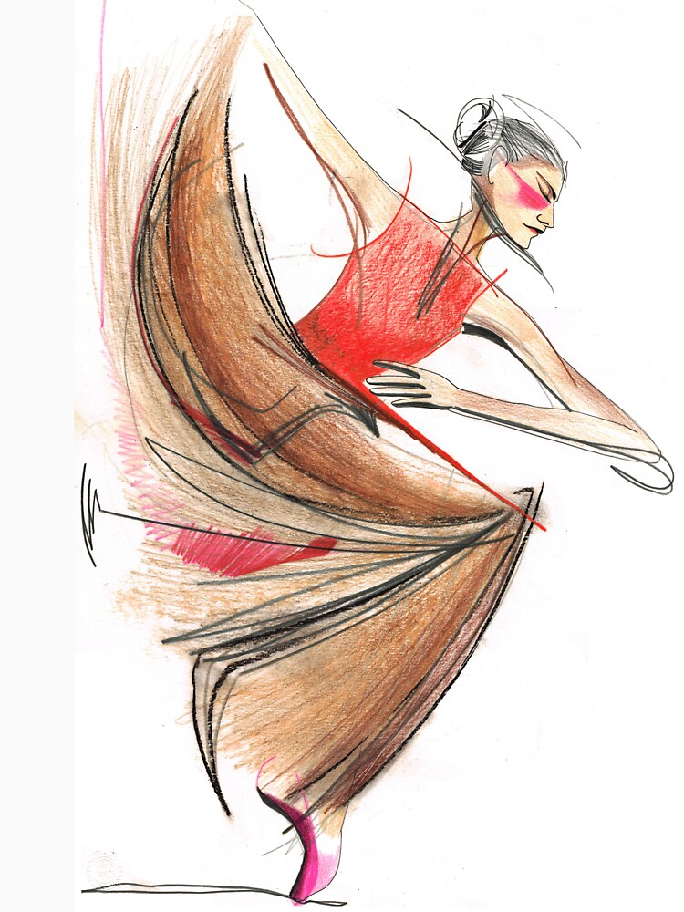 Expressive Dancer Dance Drawing by CatarinaGarcia