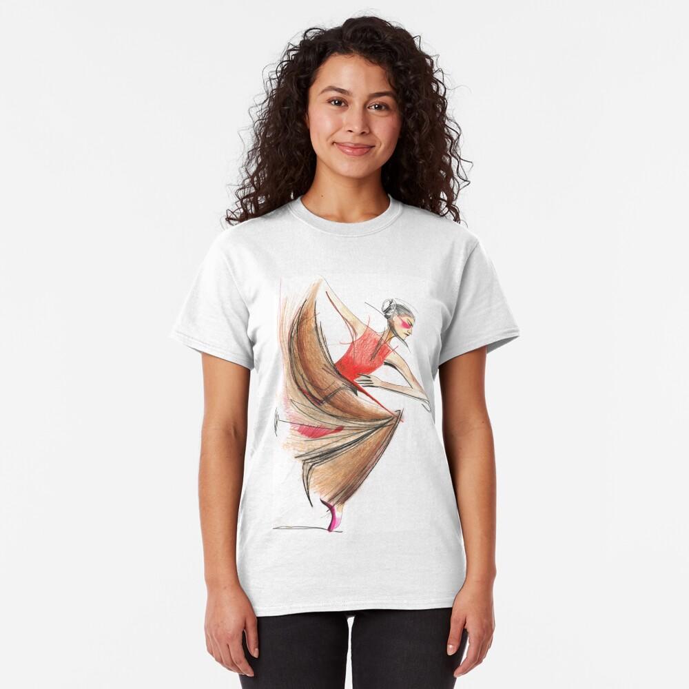 Expressive Dancer Dance Drawing Classic T-Shirt