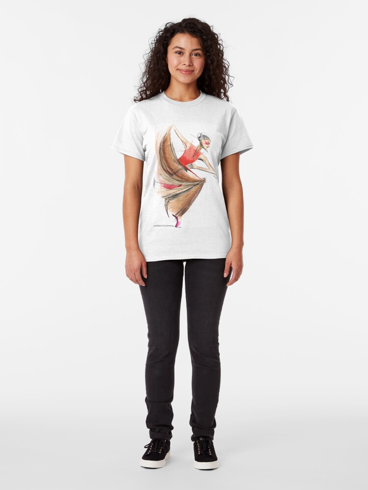 Alternate view of Expressive Dancer Dance Drawing Classic T-Shirt