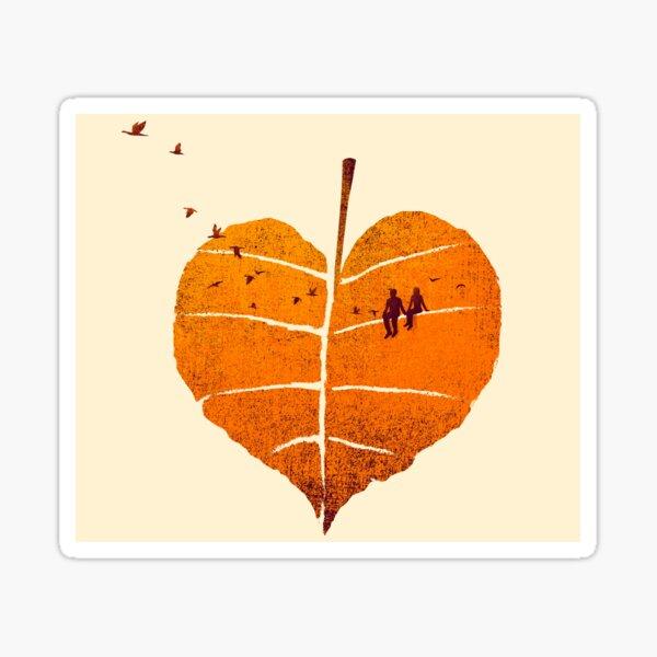 A Leaf In Love Sticker