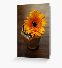 Orange-brown simplicity Greeting Card