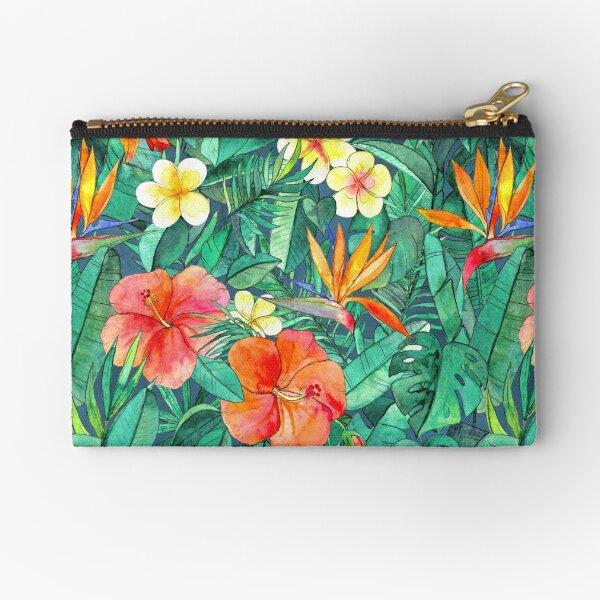 Classic Tropical Garden Zipper Pouch