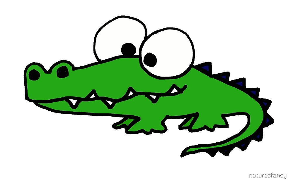 """Funky Goofy Alligator Cartoon"" by naturesfancy 