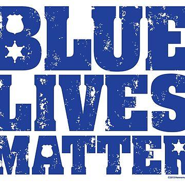 Blue Lives Matter - Distressed by hennemandesign