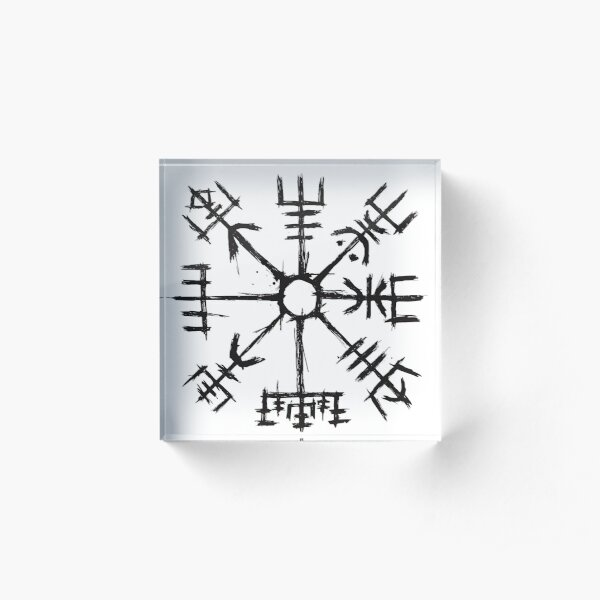 Viking Compass Vegvisir Acrylic Block