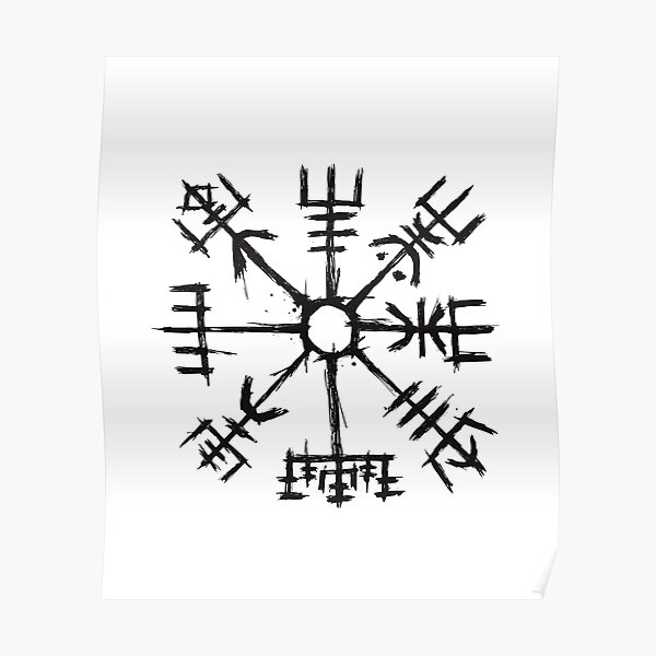 Viking Compass Vegvisir Poster