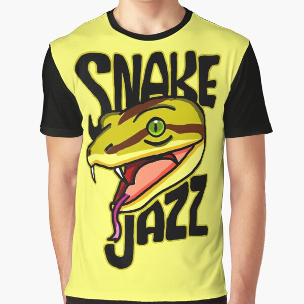 Snake Jazz Rick and Morty™ featuring Slippy the Snake from Season 4 Graphic T-Shirt