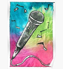 Microphone Notes Poster