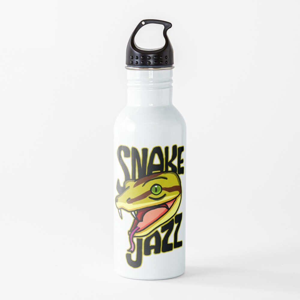 Snake Jazz Rick and Morty™ featuring Slippy the Snake from Season 4 Water Bottle