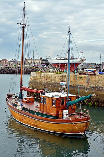 Waiting in the harbour by Martina Fagan