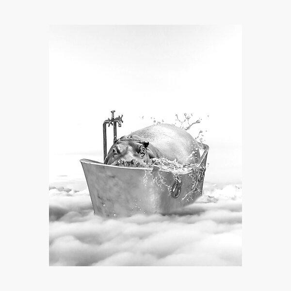HIPPO BATH Photographic Print