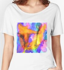 1 Art Abstract Watercolor Modern Prints by Robert R (Erod Art) Women's Relaxed Fit T-Shirt