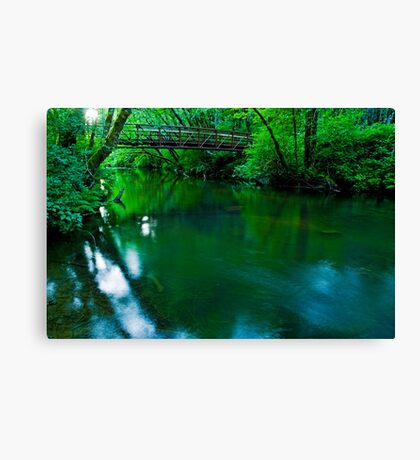 Over The Bridge And Through The Woods Canvas Print